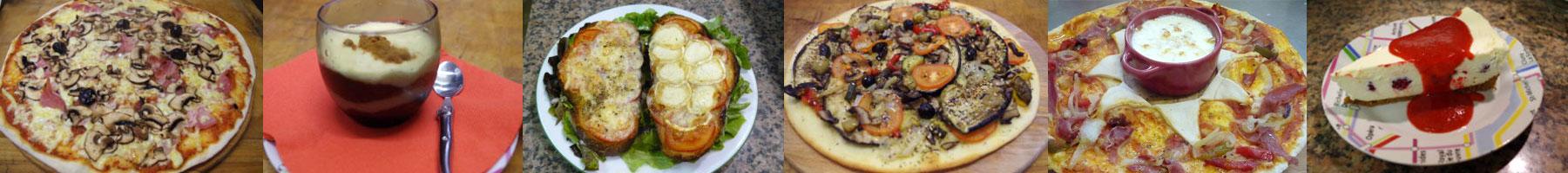 pizzas et desserts proposés par le Brooklyn